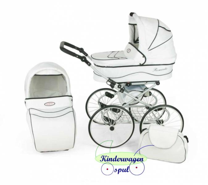 Nieuwe kinderwagen wit-wit