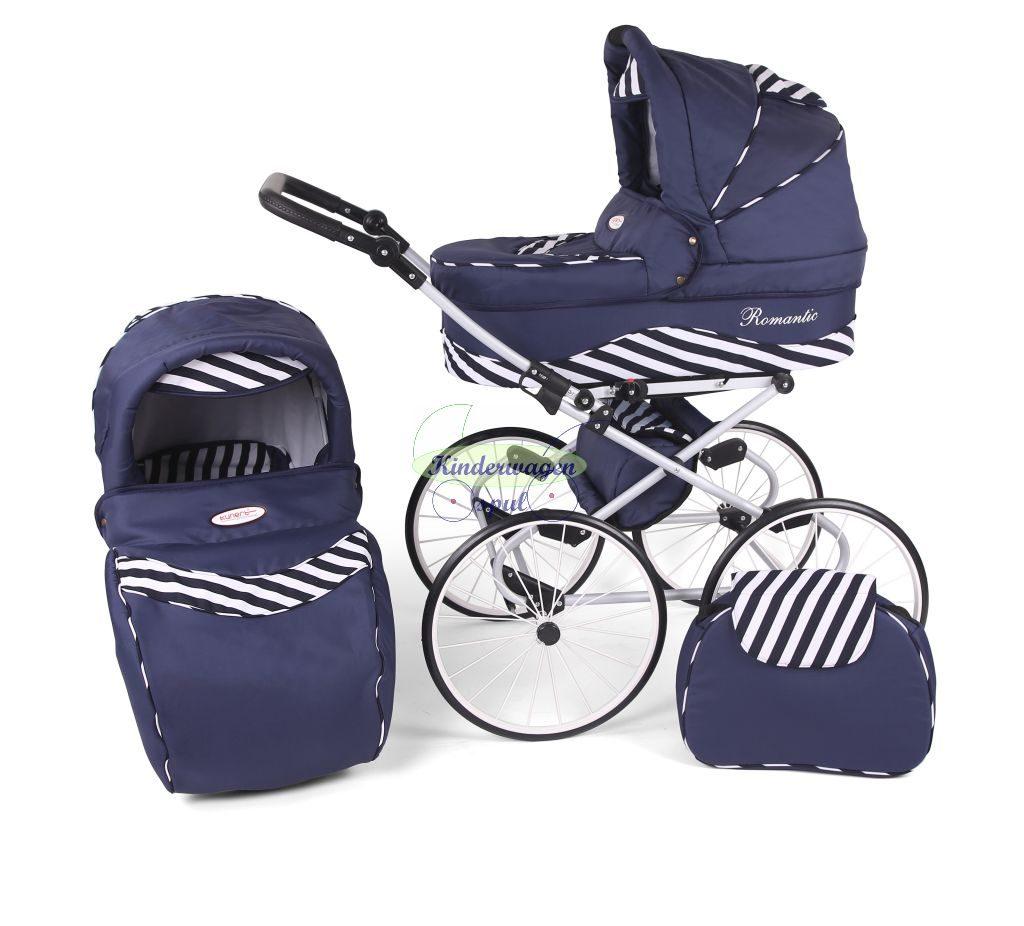 Kinderwagen blauw - blauw zebra<br /> Prijs: € 549,00