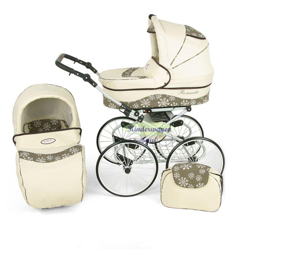 Kinderwagen crème - sneeuwvlok<br /> Prijs: € 549,00