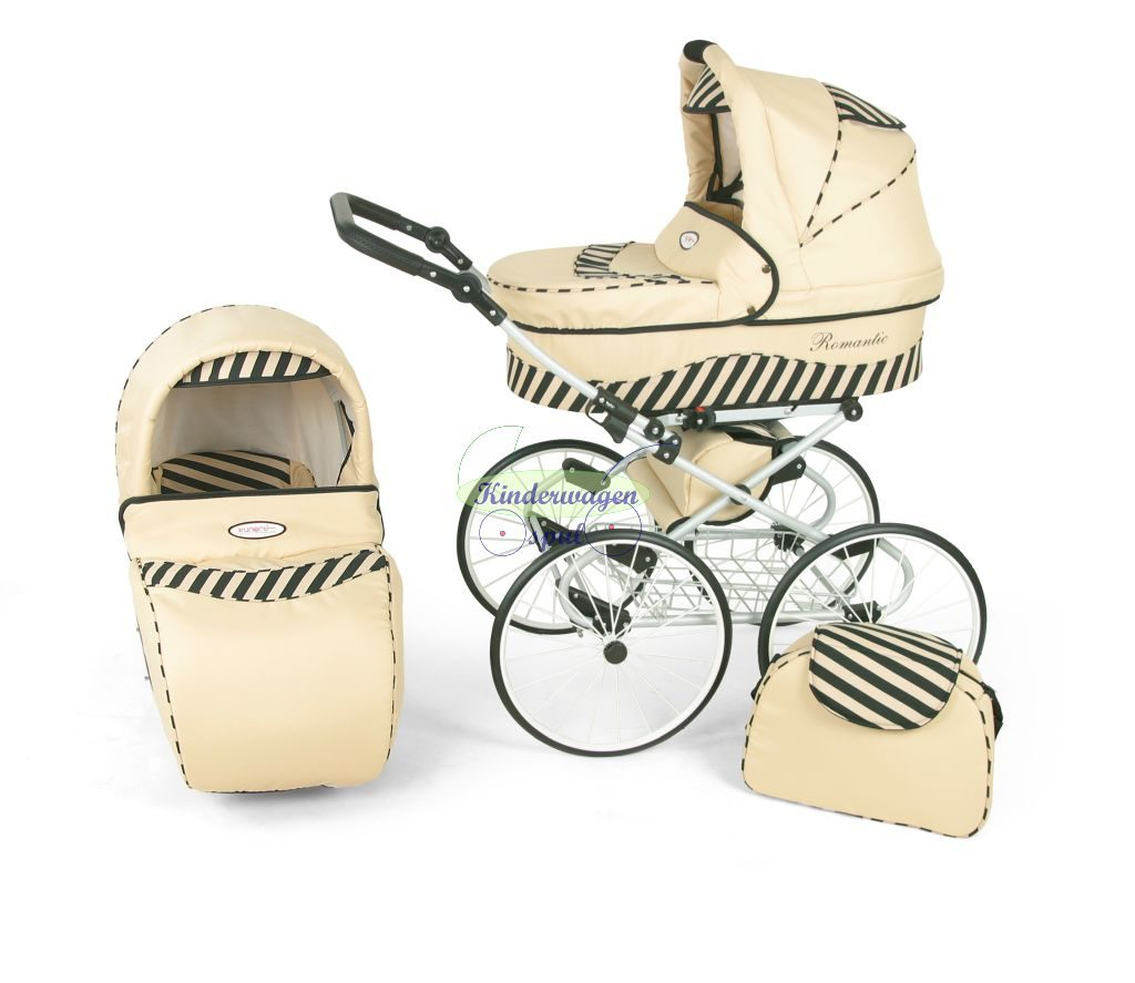 Kinderwagen crème - zebra<br /> Prijs: € 549,00