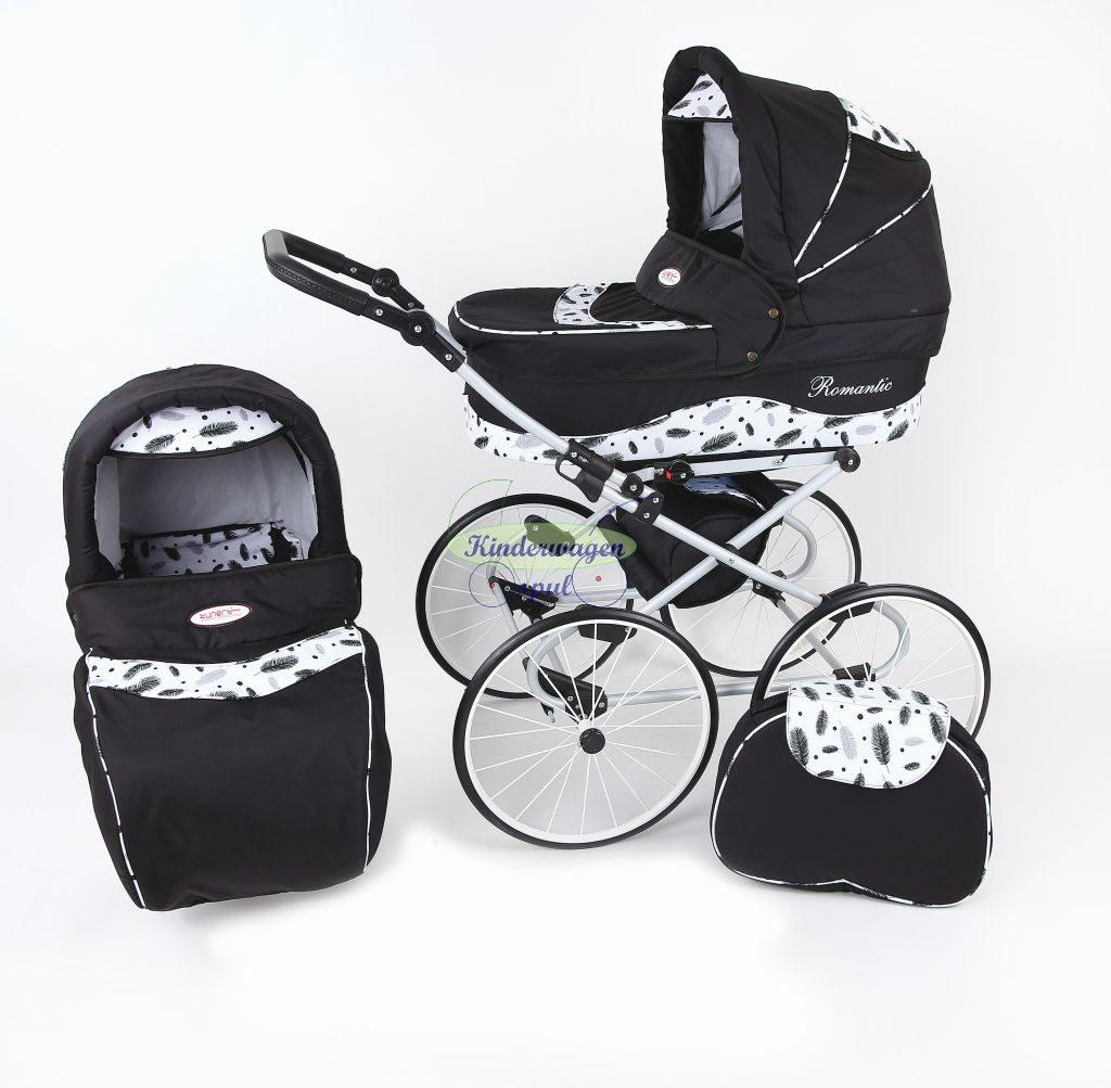 Kinderwagen zwart - bladeren<br /> Prijs: € 549,00