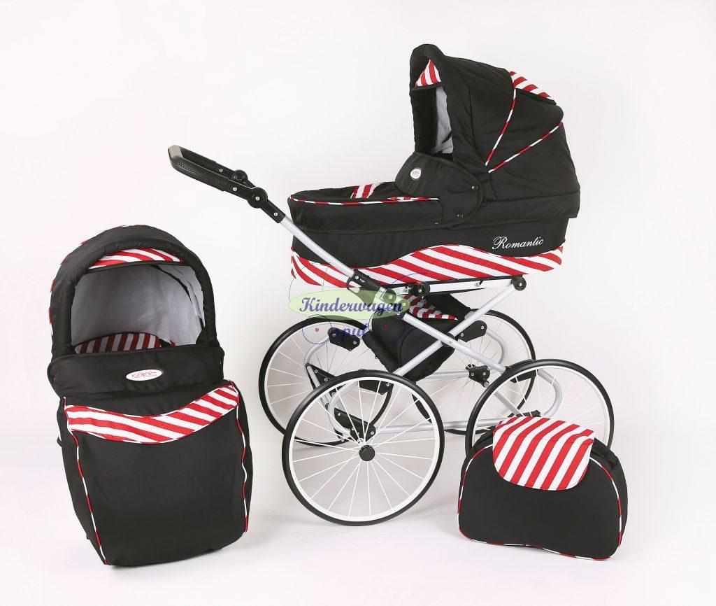 Kinderwagen zwart - rode zebra<br /> Prijs: € 549,00
