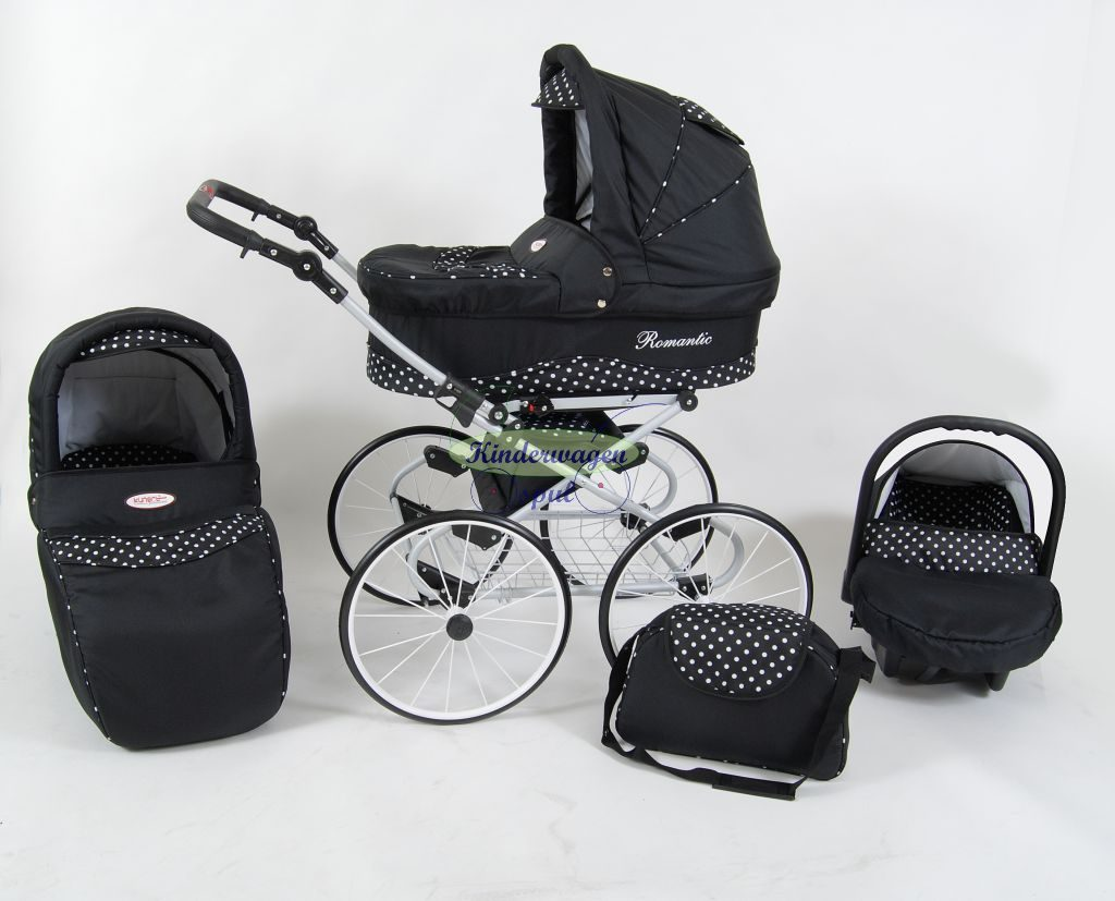 Kinderwagen zwart - witte stip<br /> Prijs: € 549,00